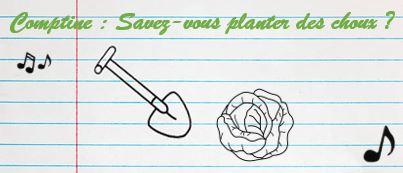 comptine pour enfant : savez-vous planter des choux ?